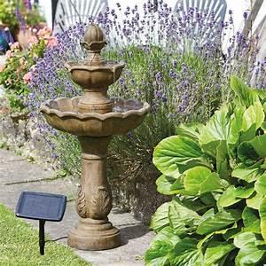 Brunnen Garten Solar : vogeltr nke und solar brunnen ohne verkabelung und ~ Lizthompson.info Haus und Dekorationen