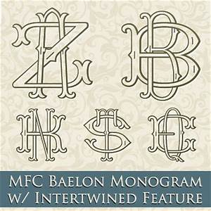 mfc baelon monogram font one two or three letter With three letter monogram checks