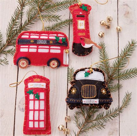 felt great british christmas decorations   christmas