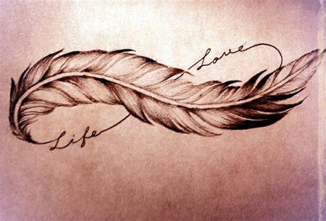 tatouage infini plume poignet modeles  exemples