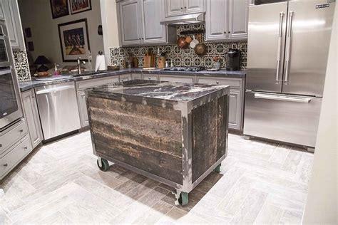 reclaimed kitchen islands porter barn wood speckled black rolling kitchen island 1743