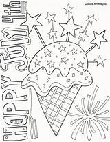 Coloring July 4th Pages Independence Doodle Sheets Fourth Adult Printable Happy Alley Flag Fireworks Words Star Clip Doodles Patriotic Books sketch template
