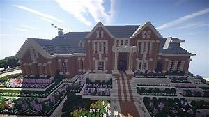 Luxury Brick Mansion Minecraft Project