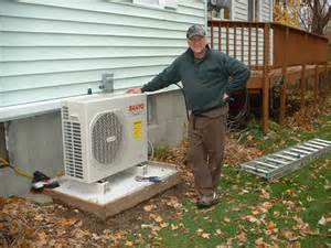 Pictures of Installing An Air Source Heat Pump