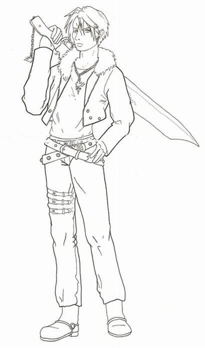 Fantasy Final Coloring Squall Viii Designlooter Deviantart