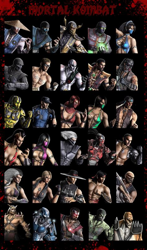 Mortal Kombat 9 Characters By Xxcuteemmyxx On Deviantart