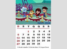 Calendário 2018 do sítio do picapau amarelo Calendário