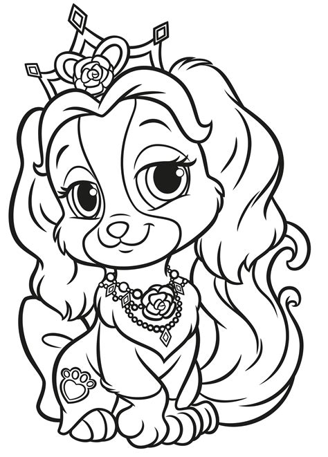 palace pets coloring pages  sun flower pages