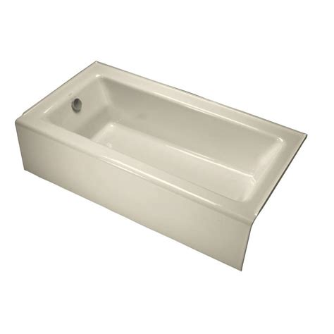cast iron tub shop kohler bellwether 60 in almond cast iron skirted
