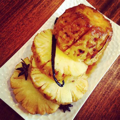 cuisine au miel ananas rôti au miel et épices papa en cuisine