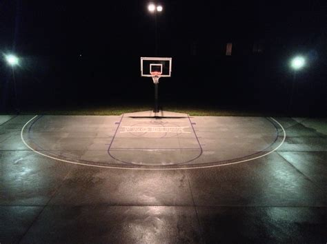 outdoor basketball court lighting these night lights are so bright and makes basketball fun