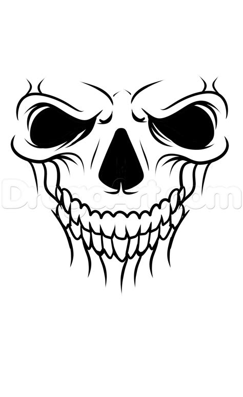 A Skull Tattoo Drawing Tutorial, Step by Step, Tattoos, Pop Culture, FREE Online Drawing