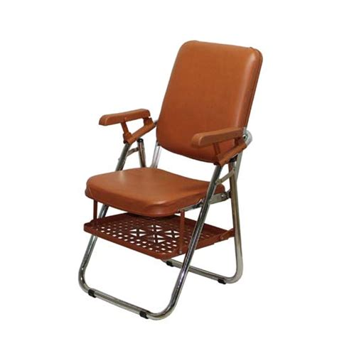 new type folding chair w arm rest and rack from