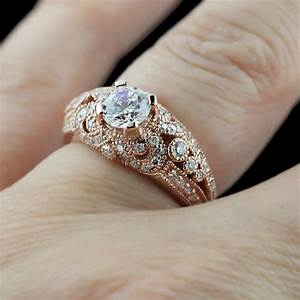 rose gold rings antique rose gold rings for women With wedding rings with rose gold