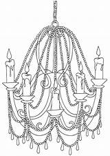 Chandelier Coloring Pages Chandelier2 sketch template