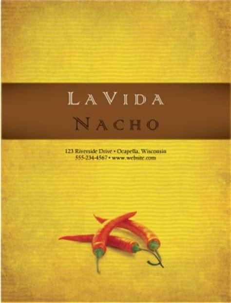 mexican food menu cover menu covers