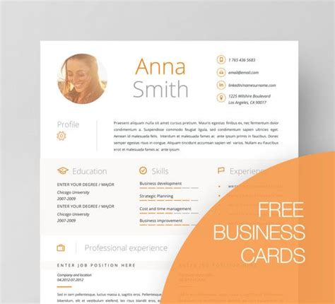 Resume Business Card Format by 17 Best Images About Resume Templates On Business Resume Free Cover Letter And Cv Ideas