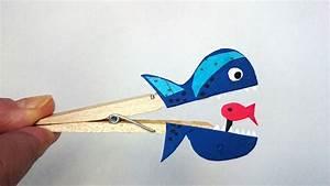 Tiere Aus Holz Basteln : basteln mit kindern kostenlose bastelvorlage tiere w scheklammer fisch ~ Orissabook.com Haus und Dekorationen