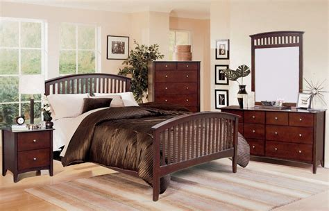 mission style bedroom set dark brown furniture set