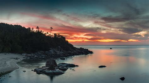 Sunset In Thailand, A Country Of Smile Desktop Wallpaper ...
