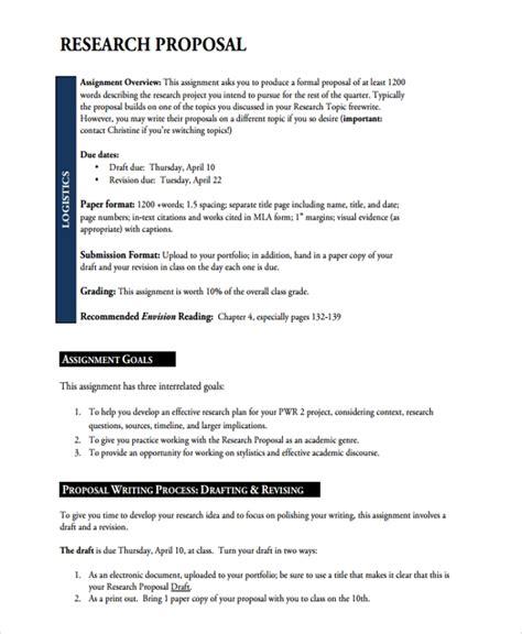 academic proposal templates sample templates