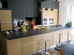 Granit noir trop dur cuisine pinterest cuisine for Idee deco cuisine avec meuble cuisine noir et bois