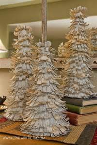 diy dictionary paper trees for the holidays pinterest