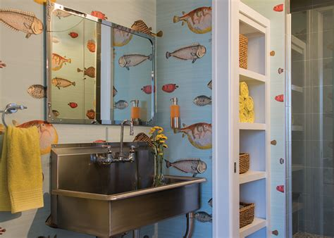 fish wallpaper  bathroom gallery