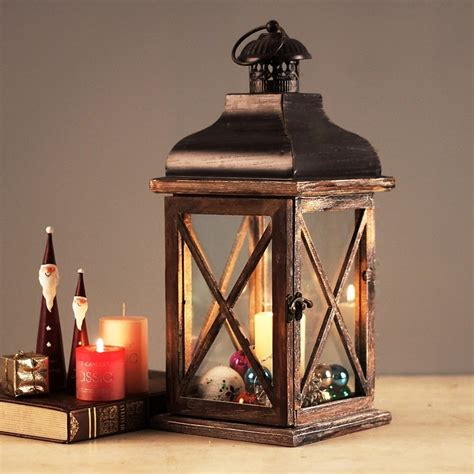 american country retro wood hurricane lamp lantern top
