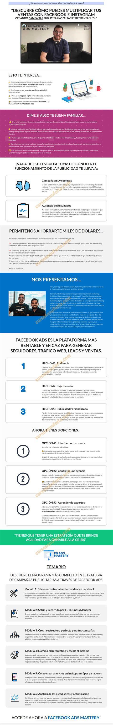 Facebook Ads Mastery - cursosenoferta.com