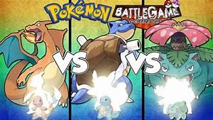 CHARIZARD VS. BLASTOISE VS. VENUSAUR! - BattleGame#4 - YouTube