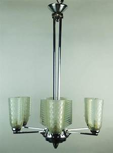 Art deco chandelier by d avesn for sale at stdibs