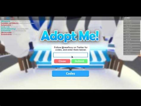 On roblox platform as long as it last and don't forget to implement some adopt me codes that we have made available on this website down below. Youtube Adopt Me Codes On Roblox - New Promo Codes Roblox 2019 Wiki