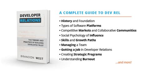 developer relations a book for technology professionals