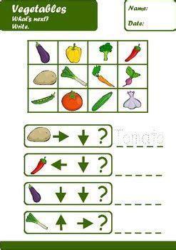 vegetables worksheets age    images worksheets