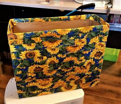Fabric Covered Box Covering Recycled Boxes Storage