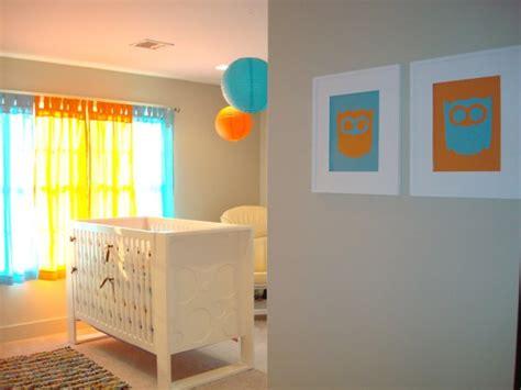 chambre bébé orange decoration chambre bebe orange visuel 7