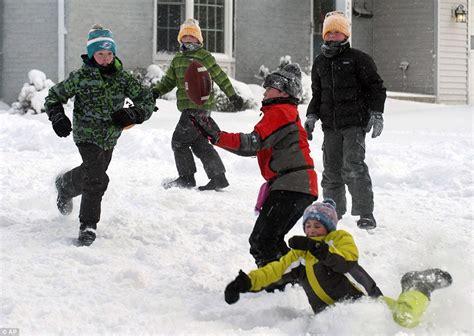 arctic blast wreaks havoc     schools  forced