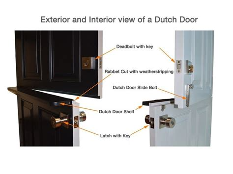 dutch door hardware deadbolt  latch  key