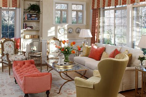 Cottage Sofa Table by Julie Mifsud Interior Design Traditional Living Room