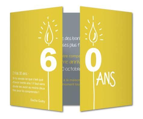 Invitation Anniversaire 60 Bougies │ Planet-cards.com