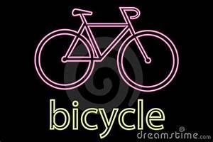 Neon Bicycle Symbol Stock Image Image