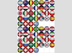 World Cup 2018 Football Flag Stickers 70 per sheet