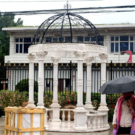 wedding ceremony decorations for sale popular outdoor garden ornament carved white marble gazebo for wedding ceremony decor