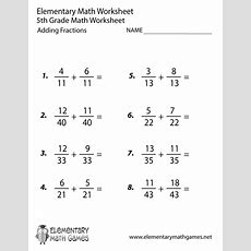 10 Best Images Of Fraction Worksheets With Answer Key  4th Grade Math Worksheets Answer Key