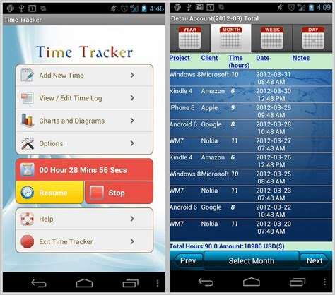 Android Apps For Tracking Time/ Expenses