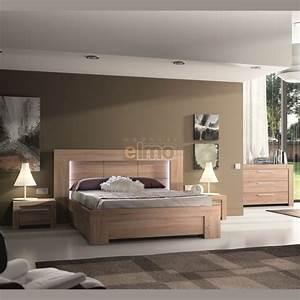 Chambre Complete Adulte : chambre adulte compl te contemporaine wagram bois et verre ~ Carolinahurricanesstore.com Idées de Décoration