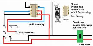 3 Phase Reversing Motor Wiring Diagram Single Pole Double