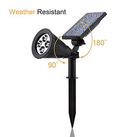 solar lights urpower 2 in 1 waterproof 4 led solar