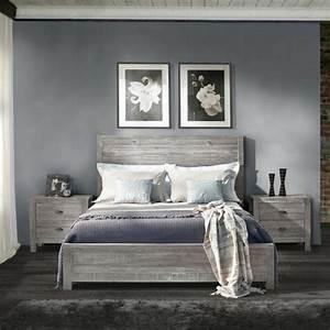 idees chambre a coucher design en 54 images sur archzinefr With parquet gris chambre